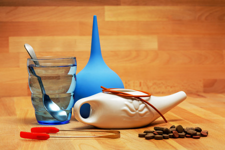 Cleaning procedures for the body. homeopathic pills and nasal irrigation