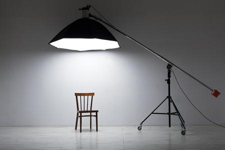 photography session: Deep octobox studio softbox modifier in a professional photo studio.