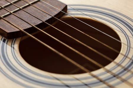 entertainment background: classic six-string guitar up close