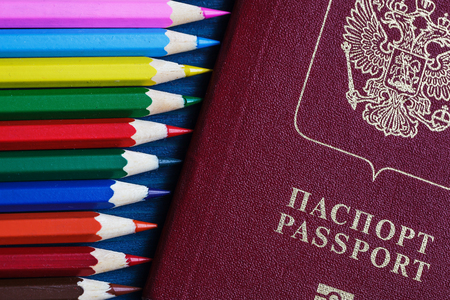 spoiling: Risk of spoiling documents before traveling Stock Photo