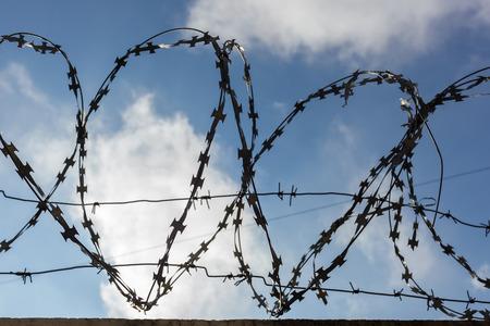 punishment: Prison fence. Strict punishment for crimes