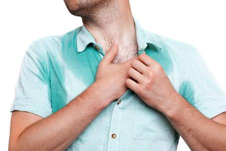 発汗の問題。暑さから濡れた服