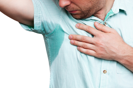 hyperhidrosis: problem with sweating. Wet clothes from the heat