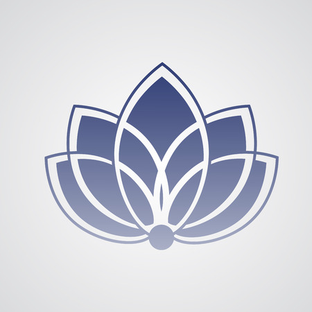 silhouette fleur: Icône silhouette de lotus pour le studio de yoga, des affaires de spa ou d'un club de remise en forme
