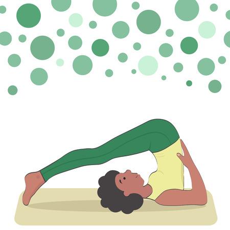 meditation help: Halasana. inverted asana of medium difficulty level.