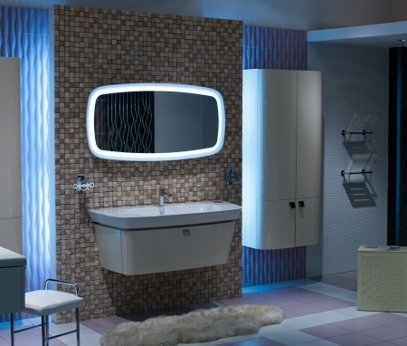 bathroom and toilet with modern decor  photo