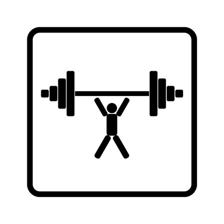 weightlifter: weightlifter lifts weight isolated