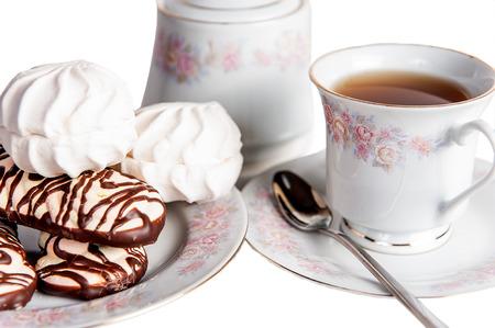tea cake sweet isolated bakery photo