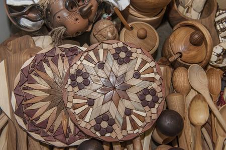 souvenir traditional: wooden spoon souvenir traditional kitchenware Stock Photo