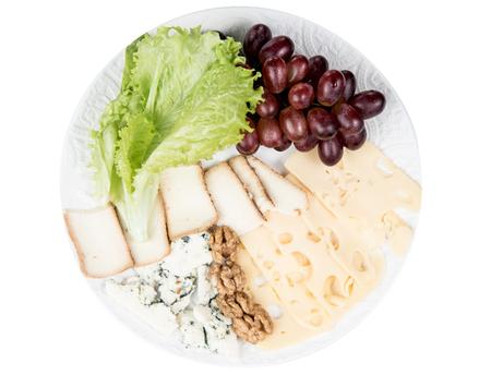 cheese grapes green salad