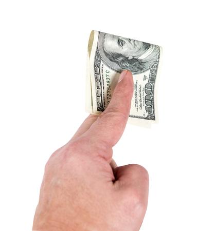 dolar: uno hudred dolar EE.UU.
