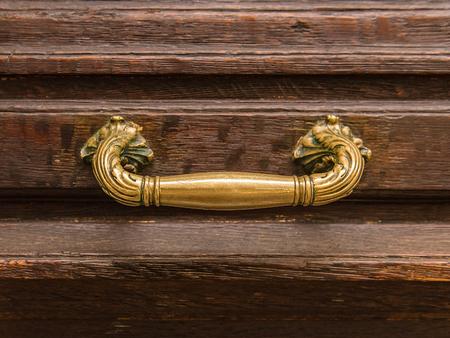 Antique old gothic door handle or doorknob