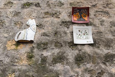 몽마르뜨 갤러리 매력적인 거리에서 판매를위한 파리 프랑스 오래 된 예술