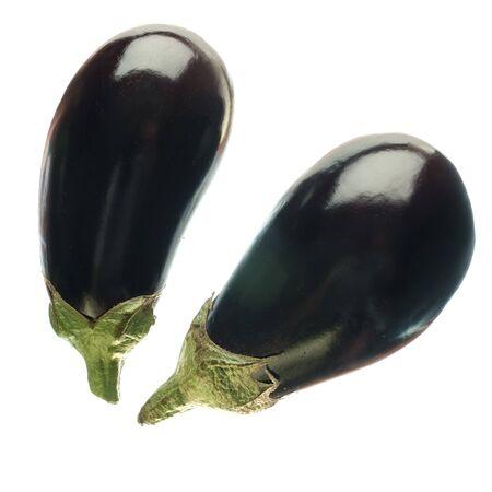 fresh vegetable purple eggplant isolated on white backgronnd