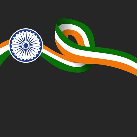Illustration of Happy India Republic day celebration background with text 26 January and India Flag. Illusztráció