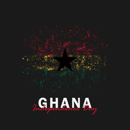 Vector of Independence Day Ghana. Celebration of Ghana's national day on March 6. ghana national flags. - Vector Illustration  イラスト・ベクター素材
