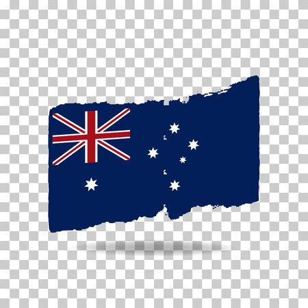 Happy Australia day 26 January (independence day). Flag of Australia on isolated background. Can used for Greeting card, poster, banner concept, flayer, social media. Vector illustration. Illustration