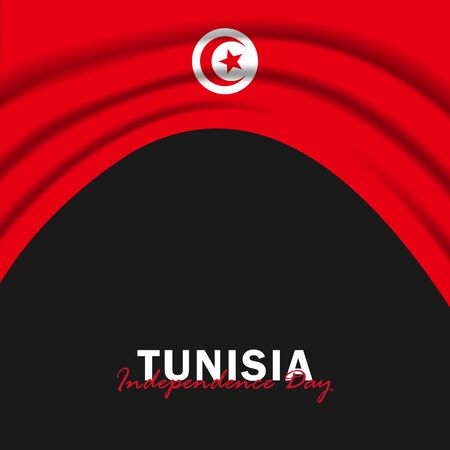 Vector of Independence Day with Tunisia Flags. Celebration of Tunisia Independence Day on March 20. Vector Illustration