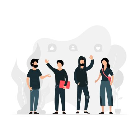 People of different nationalities and religions cartoon characters. Multinational society. Teamwork, cooperation, friendship concept. Multicultural team flat vector illustration. Unity in diversity.