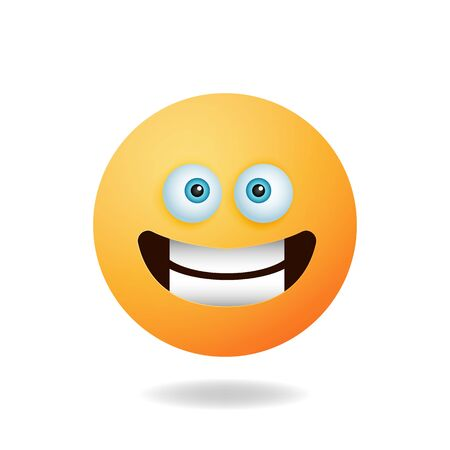 Emoticon character - Cartoon design concept of emoticon with smile expression. Mascot logo design