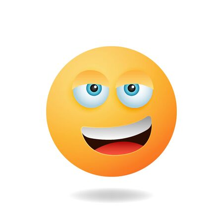Emoticon character - Cute emoticon cartoon characters with smile expression. Mascot logo design