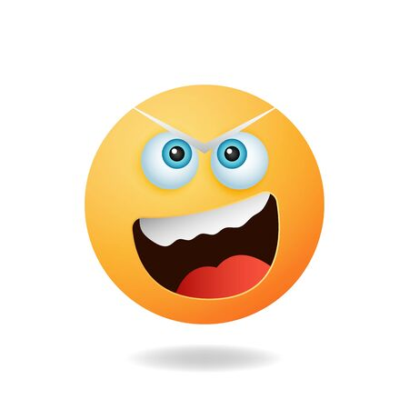 Emoticon character - An elegant emoticon mascot design with angry expression. Mascot logo design