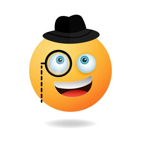 Emoticon character - A picture of emoticon cartoon design style with smile expression. Mascot logo design