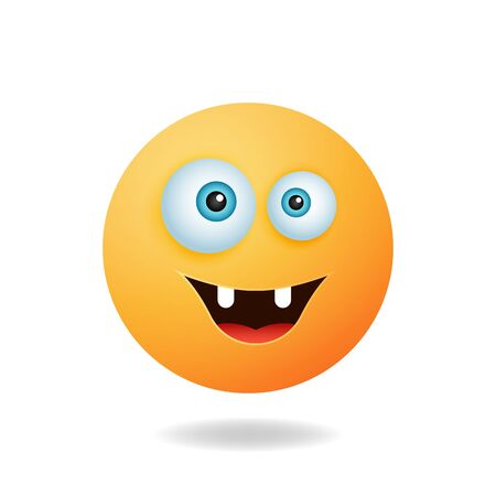 Emoticon character - Cute emoticon cartoon characters with angry expression. Mascot logo design