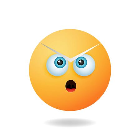 Emoticon character - The concept of the cartoon character design emoticon cartoon design style with shocked expression. Mascot logo design Illustration