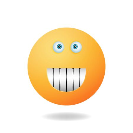 Emoticon character - The concept of the cartoon character design emoticon cartoon design style with smile expression. Mascot logo design Illustration