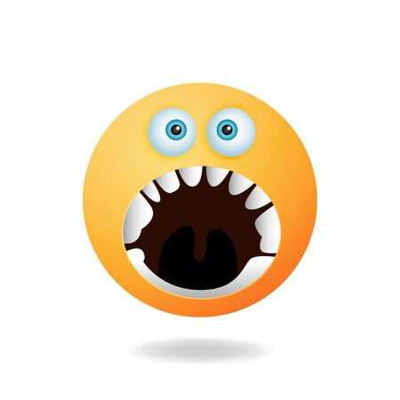 Emoticon character - Cartoon design concept of emoticon with angry expression. Mascot logo design