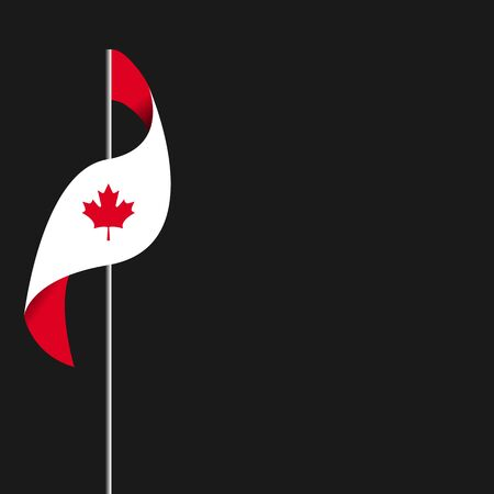 Happy Canada Day poster. Canada independence day. Three planes with traces. National Canada Day. Ilustração