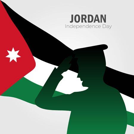 Vector illustration of Happy Jordan Independence Day 25 May. Can used for greeting card, banner, poster, flyer, card.