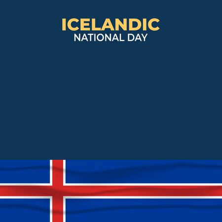 Vector illustration of Þjóðhátíðardagurinn Icelandic. Icelandic National Day. vector illustration