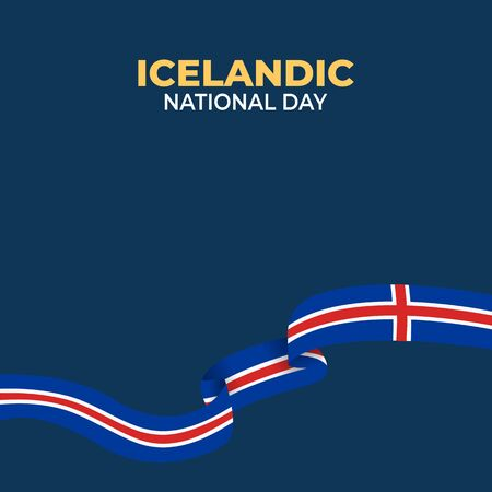 Þjóðhátíðardagurinn Icelandic (Translate: Iceland National Day) is the Icelandic National Day and Republic Day, which is celebrated on 17 June each year. vector illustration