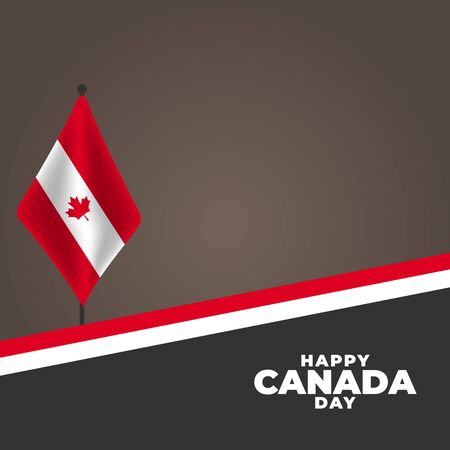 National Day of Canada (Canada: Fete du Canada or Dominion Day). Celebrated annually on July 1 in Canada. vector illustration
