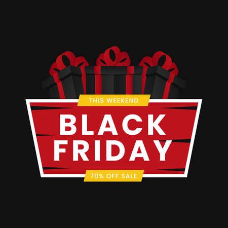 Black Friday sale banner concept.
