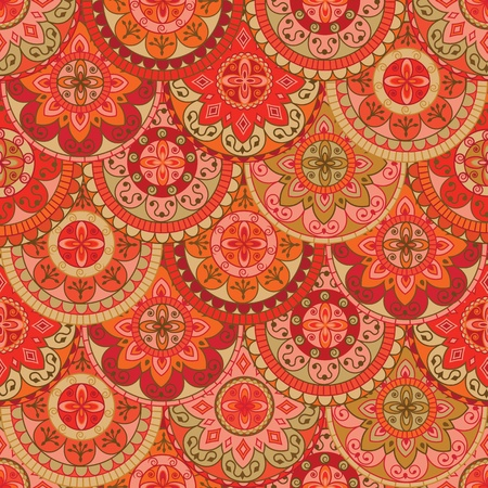 Nahtlose Muster mit retro farbige Kreise Standard-Bild - 13387532