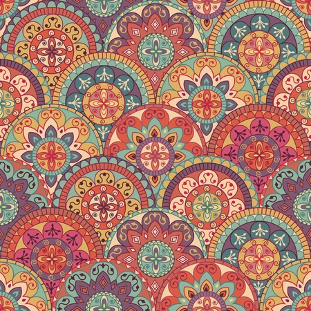 textile image: abstract pattern in retro style Illustration