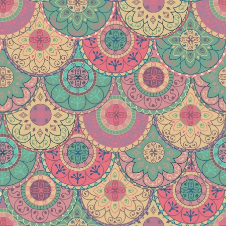 vintage wallpaper: abstract wallpaper with circles in pastel colors