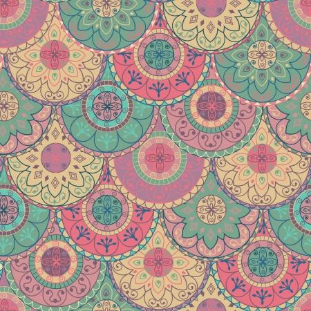 Papier peint abstrait avec des cercles dans des couleurs pastel Banque d'images - 13502144