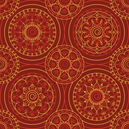 abstract seamless pattern with circles on burgundy background Stock Vector - 13502136