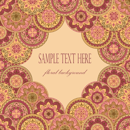 vintage frame in retro style Vector