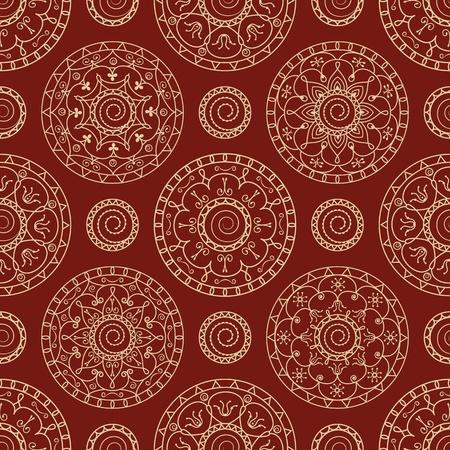 Vettoriale Seamless Wallpaper Astratto Con Cerchi Su Uno Sfondo