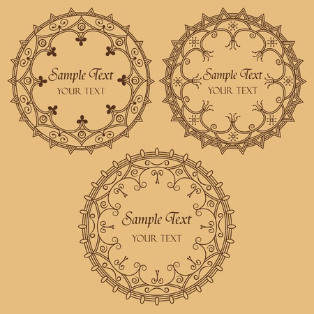 set of three round frame Stock Vector - 13502179