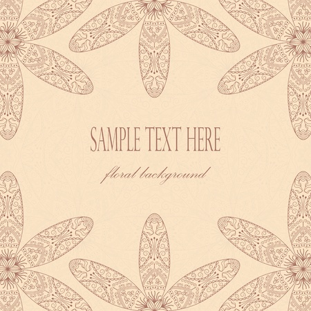 Card with floral decoration and place for text on a light background Stock Vector - 13502187