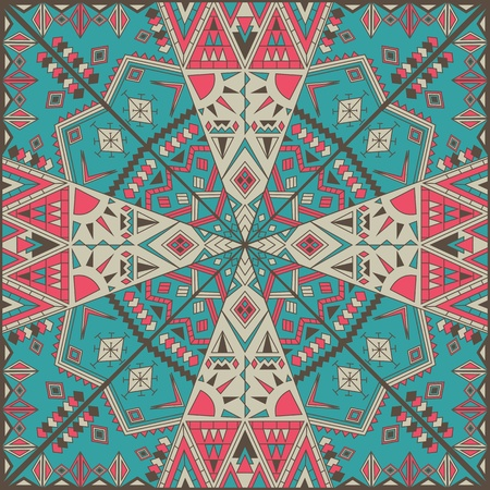 kaleidoscope: Original Seamless Pattern With Abstract Design