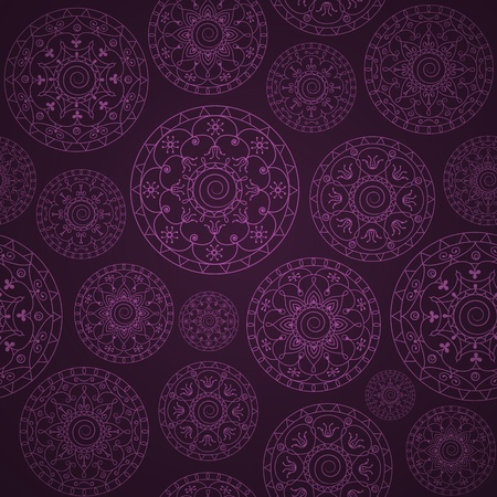 abstract seamless wallpaper with circles Vector