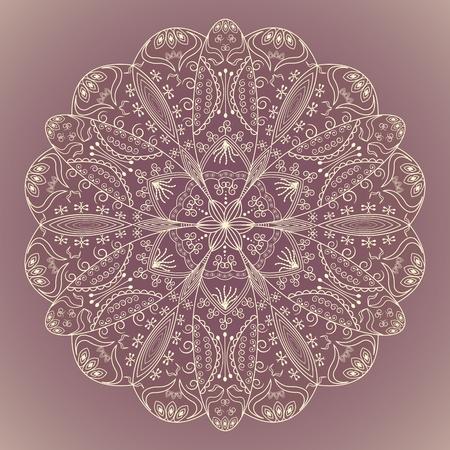 circle design: decorative round pattern on gradient background