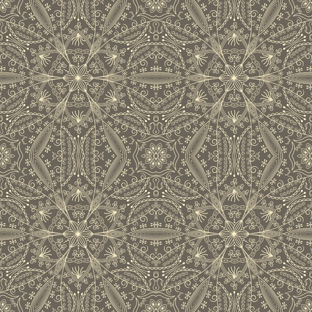 vintage wallpaper with lace seamless pattern Illustration